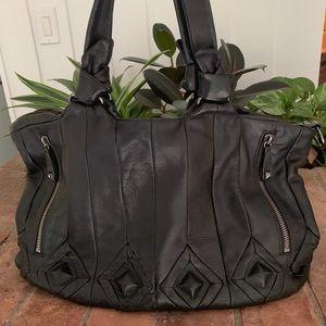 Elliot Lucca handbag in black. Super soft leather.